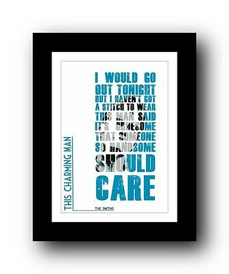 The Smiths ❤ This Charming Man ❤ Song Lyrics Poster Art Limited Edition Print #2 • 15.99£