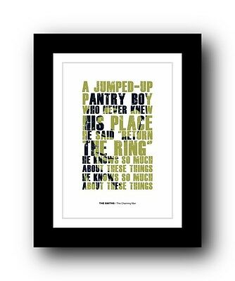 The Smiths ❤ This Charming Man ❤ Song Lyrics Poster Art Limited Edition Print #3 • 14.95£