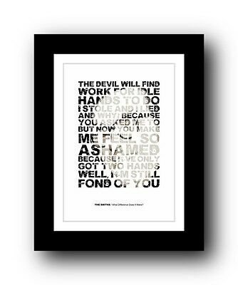 The Smiths ❤ What Difference Does It Make ❤  Typography Poster Art Print • 15.99£