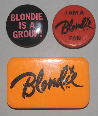 Blondie Rare Original Buttons From Fan Club Debbie Harry Pinbacks Badges Pins • 31.67£
