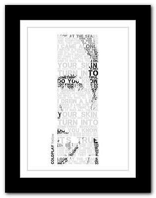 ❤ COLDPLAY Yellow ❤ Song Lyrics Poster Art Limited Edition Typography Print #25 • 14.95£