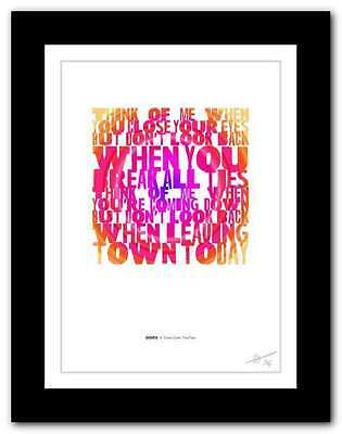 ❤ DOVES - There Goes The Fear ❤  Song Lyrics Typography Poster Art Print #16 • 14.95£