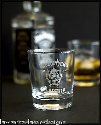 Lemmy Motorhead - Engraved Whiskey Tumbler Glass - FREE UK Post • 14.99£