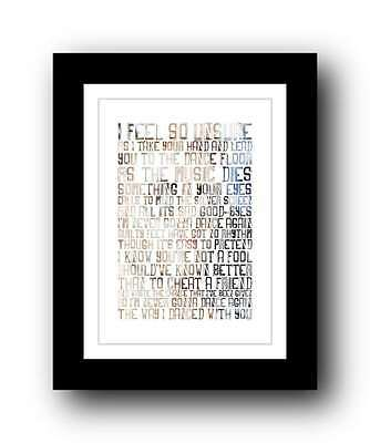 GEORGE MICHAEL Wham ❤ Careless Whisper ❤ Song Lyrics Poster Art Print #1 • 16.95£