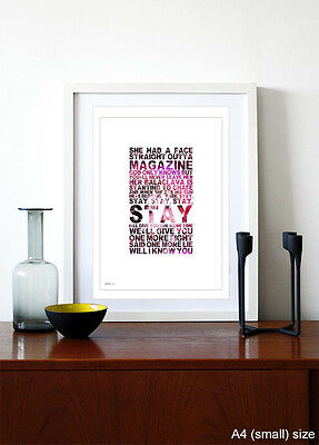 THE 1975 ❤ Robbers ❤ Song Lyrics Poster Art Edition Print In 5 Sizes #5 • 9.95£