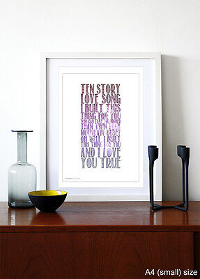 THE STONE ROSES ❤ Ten Storey Love Song ❤ Poster Art Edition Print In 5 Sizes #24 • 14.95£