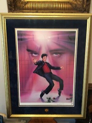 Elvis Limited Edition Lithogram The Jailhouse Rock Signed Artist With Certficate • 145£