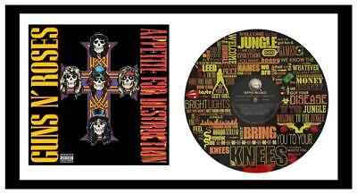 GUNS N' ROSES - MEMORABILIA - VINYL RECORD LYRIC ART & COVER - Limited Edition  • 195£