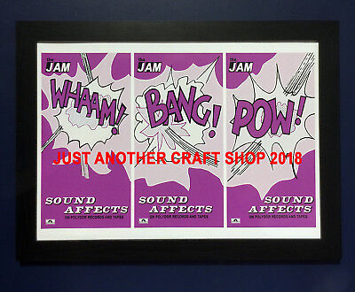 The Jam Sound Affects A3 Size Framed Poster USA Promo 1980 42cm X 29.7cm • 28.99£