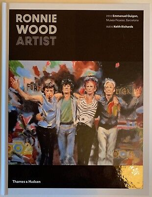 Ronnie Wood Hand Signed Artist Book Very Rare 1. • 174.99£