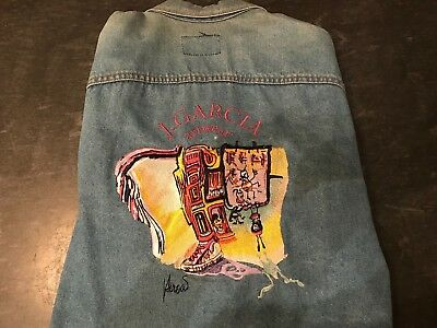 Vintage Jerry Garcia Artwear Denim Jacket 1995 Special Olympics Embroidered Art  • 111.12£