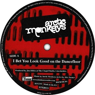 Arctic Monkeys. Record Label Sticker. I Bet That You Look Good On The Dancefloor • 2£