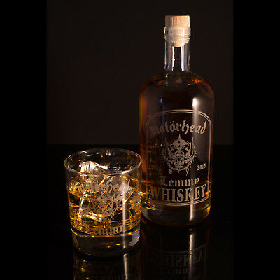 Lemmy Motorhead, Empty Engraved 70cl Whiskey Decanter & Glasses - FREE UK Post • 29.99£