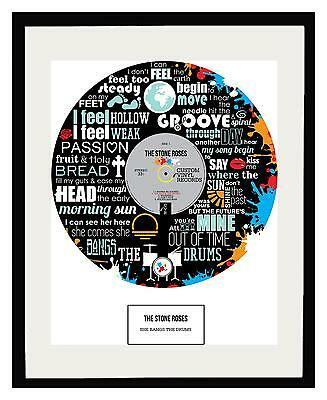 STONE ROSES - MEMORABILIA - Framed Print - Limited Edition - An Ideal Gift • 49.50£