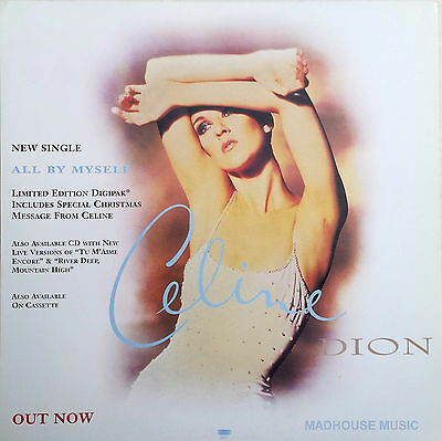 CELINE DION Display Card All By Myself UK PROMO ONLY Rare 12  X 12  Poster • 10.95£