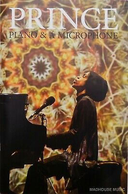 PRINCE PROGRAMME Piano & Microphone Tour FINAL Tour Glossy USA Only Rare Min • 170£
