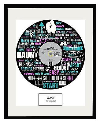 COLDPLAY - MEMORABILIA SCIENTIST - FRAMED ART POSTER PRINT - Ltd Edition • 49.50£