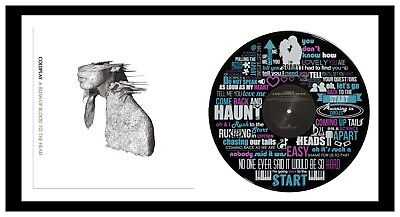 Coldplay - Art - Vinyl Record + Lyric Art & Album Cover - Framed - Memorabilia • 195£