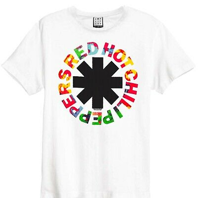 Amplified Red Hot Chilli Peppers -  Hyper Logo Official Licensed White T-Shirt • 19.99£