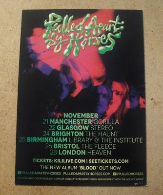 PULLED APART BY HORSES Postcard Sized Flyer NOVEMBER 2013 UK TOUR  • 1.99£
