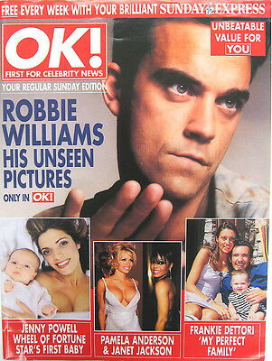 ROBBIE WILLIAMS MAGAZINE OK! His Unseen Picture -COVER Pic. + 5 Pages • 6.95£