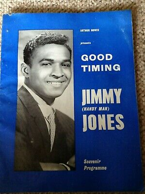 Jimmy Jones Concert Programme 1960's And Photo, Featuring Kenny Lynch And Others • 10£