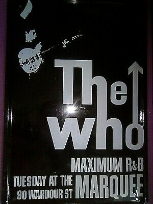 The Who Maximum R&b Classic Marquee Tin Sign . • 9.99£