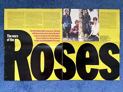 The SUNDAY TIMES Magazine 1995 STONE ROSES IAN BROWN JOHN SQUIRE Fools Gold • 9.95£