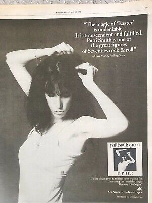 PATTI SMITH-EASTER 1978 Vintage Rolling Stone Original Ad • 15.73£