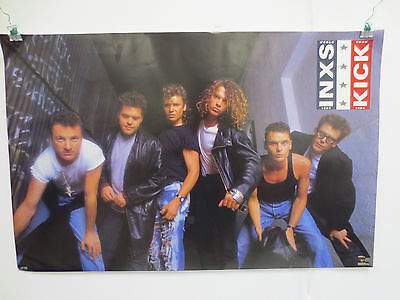 Inxs Rock & Roll Vintage 1987 Poster By Funky World Tour Kick Michael Hutchence • 11.87£