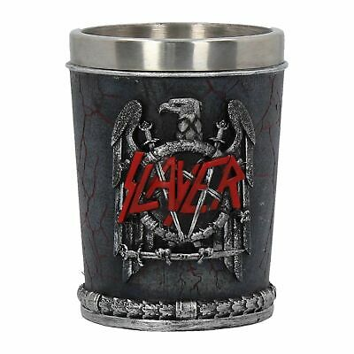 Official Slayer Logo Shot Glass Hand Painted - Nemesis Now - Heavy Metal Gift • 14.99£