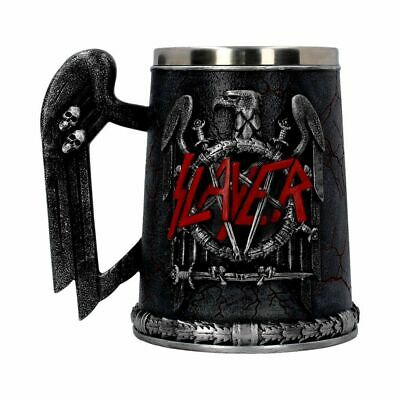 Official Slayer Logo Tankard Hand Painted - Nemesis Now - Heavy Metal Gift • 49.99£