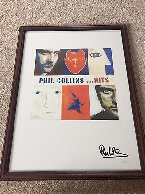 PHIL COLLINS Genuine Hand Signed Limited Edition Print Of The Hits Album Artwork • 249.99£