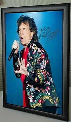 Mick Jagger The Rolling Stones SIGNED FRAMED  TRIBUTE • 17.99£