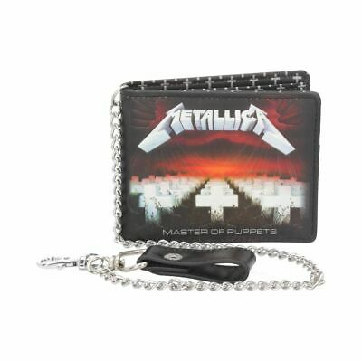 METALLICA MASTER OF PUPPETS WALLET Officially Licensed With Chain BNIB FREE P+P • 21.95£