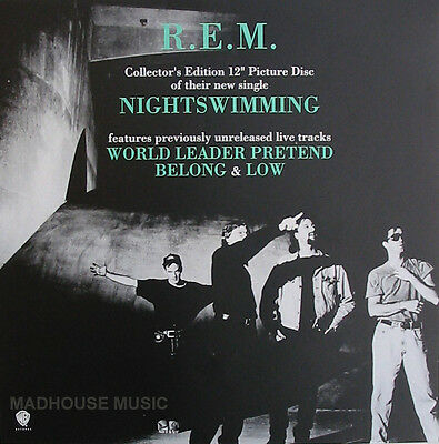 R.E.M. REM POSTER Nightswimming # 2 Rare Band Picture ! PROMO ONLY Poster MINT • 6.95£