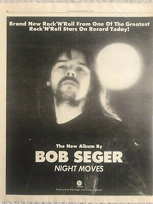 BOB SEGER-NIGHT MOVES! 1976 Vintage Rolling Stone Original Ad • 11.80£