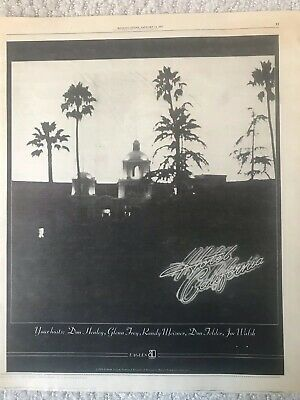 THE EAGLES-HOTEL CALIFORNIA! 1977 Vintage Rolling Stone Original Ad • 10.22£