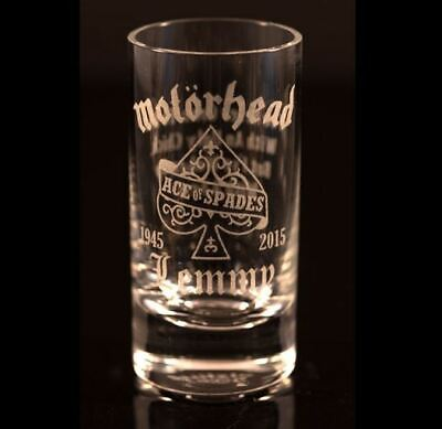 Lemmy Motorhead - Engraved Shot Glass - FREE UK Post • 16.98£