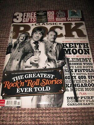 Keith Moon Classic Rock Magazine Nov 2010 + Rock Fridge Magnets + Book L2 • 22.99£