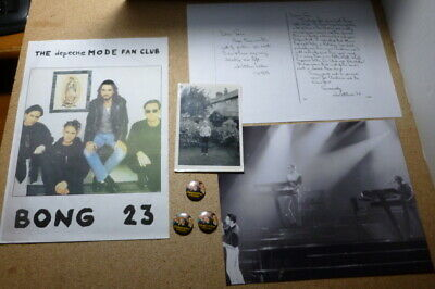 Depeche Mode Fan Club Letter With Photos And Badges • 85£