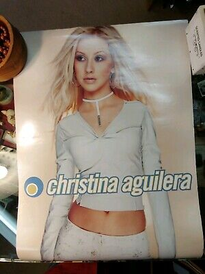 CHRISTINA AGUILERA - My Kind Of Christmas - Two Sided Promo Poster ,2000 • 14.28£