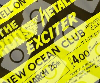 Metallica 1984 Poster ULTRA RARE Cancelled UK The Hell On Earth Tour Gig Promo  • 950£