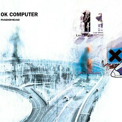RADIOHEAD Ok Computer BANNER HUGE 4X4 Ft Fabric Poster Tapestry Flag Album Cover • 21.24£