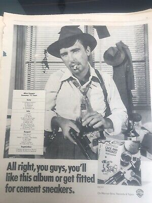 ALICE COOPER-Lace & Whiskey 1977 Vintage Rolling Stone Original Ad • 7.97£