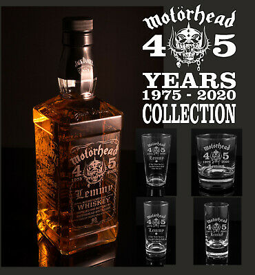 Motorhead 45 Year Anniversary, Empty Engraved 70cl Jack Daniels Bottle Or Glass • 12.99£