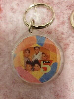 BRAND NEW 5 FIVE STAR Pop Group *RARE COLLECTION *OFFICIAL FAN CLUB* KEYRING • 10.49£