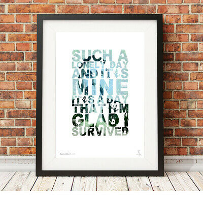 System Of A Down ❤ Lonely Day ❤ Song Lyric Poster Art Limited Edition Print #135 • 14.95£