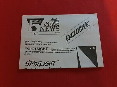 5 FIVE STAR *RARE* OFFICIAL FAN CLUB* MEMBERS NEWSLETTER No.6 - DENISE PEARSON • 7.49£