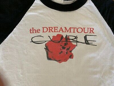 The Cure Dream Tour 2000 Tour T-Shirt White With /Black 3/4 Sleeves X-Large Rare • 19.81£